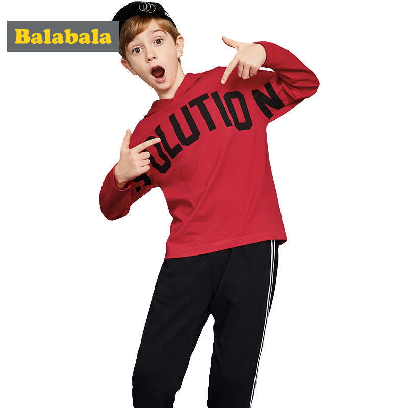 Balabala tracksuit for boys hooded coat spring boys clothes fashion children clothing set Teens sports Long Sleeve Sets For Boys 2017 new boys clothing set camouflage 3 9t boy sports suits kids clothes suit cotton boys tracksuit teenage costume long sleeve