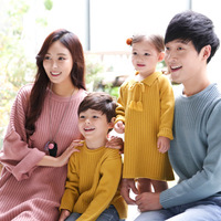 Family Matching Outfits Sweater 2018 New Autumn Winter Multi color Long sleeved Wool Sweaters Mother and Daughter Clothes QZ073