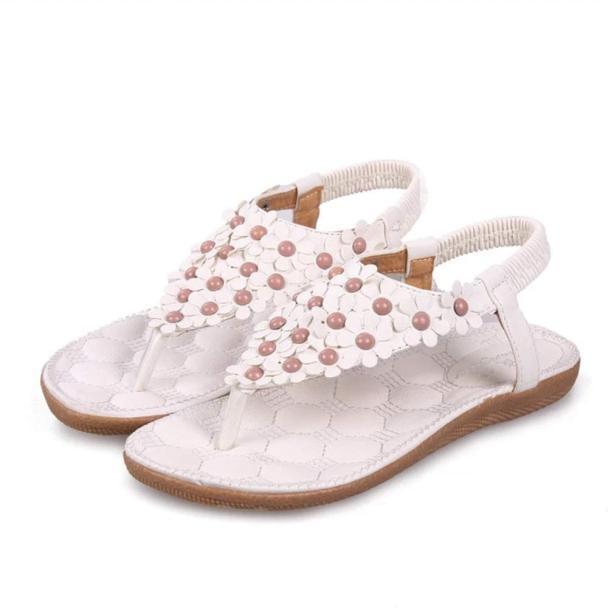 2019 Nova Boemia Verão Frisado Doce Sandálias Clipe Toe Sandálias de Verão Plataforma Sandália de Lazer Sapatos de Praia Boa Qualidade 10