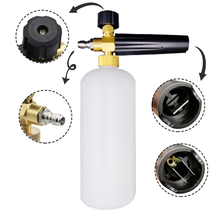 """HNYRI or other brand! 1000ML 1/4"""" Quick Connect Nozzle Pressure Washer Snow Foam Metal Jet Soap Lance Spray Car Wash Pump Cannon"""