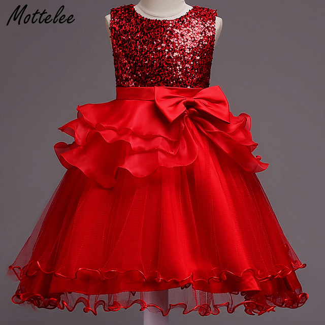 Mottelee Girls Dress Multi layer Baby Party Dresses Big Bow Princess ...