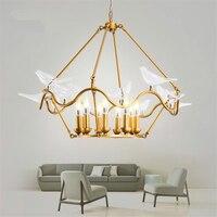 Современные светодио дный подвесные лампы освещения белая птица люстра Спальня Гостиная лобби подвесной светильник декоративный Кухня св