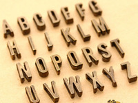 2600 бронзовый тон буквы алфавита Z слайд очарование подходят 7 мм Напульсники с 100 шт. x 1 м Strape