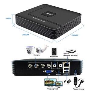 Image 5 - Sistema de videovigilancia DVR híbrido, CCTV, 4 canales, 720P, 1080P, juego de cámara AHD de día y noche, Kit de cámara domo VGA, HDMI, salida de plástico