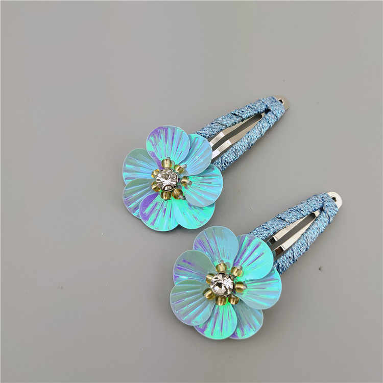 Новые Летние Симпатичные Shell блесток цветок заколки для волос заколка аксессуары для волос для детей девочек детей заколки для волос орнамент