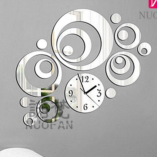 Fashion 18 Pieces DIY Home Decoration Novelty Mirror Wall Stickers ...