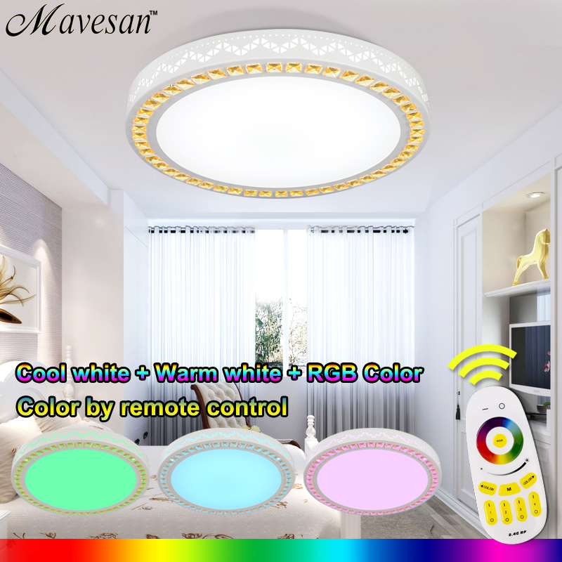 Dimmable led ceiling <font><b>light</b></font> fixtures with remote control dome led ceiling For Living Room with multicolor for drawing room