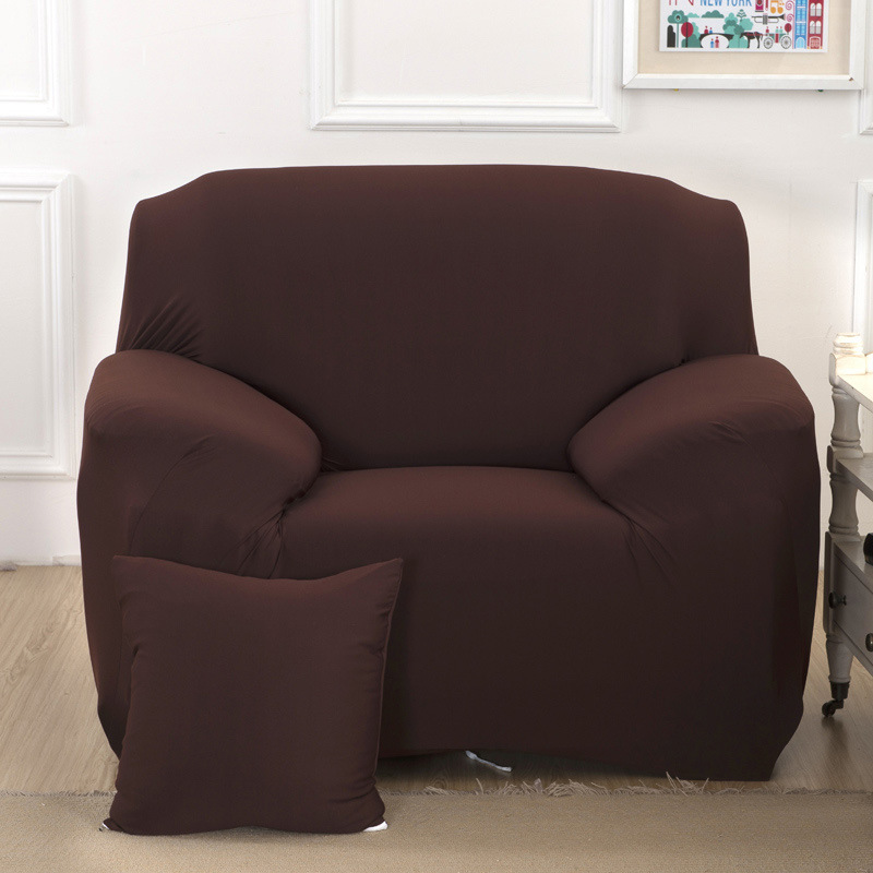 Solid Stretch Sofa Cover For Couch Living Room Furniture