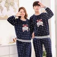 ec1a78511d Yuzhenli Winter Couples Pyjamas Sets Thick Warm Coral Velvet Suit Flannel  Long Sleeve Plus Size XXL