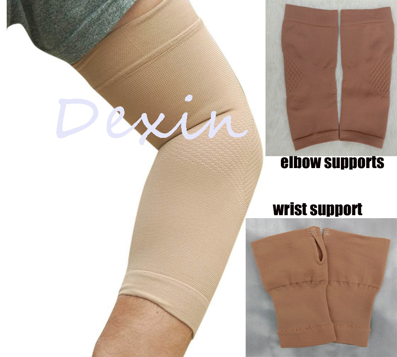 249ee69549 Free Shipping Medical Compression Elastic Arm Hand Supports Sets 1Pair  Elbow Supports Sleeves + 1Pair Wrist Support Sleeves-in Wrist Support from  Sports ...