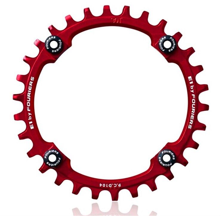 купить fouriers 7075T6 CNC mtb Chain Ring 104BCD 30T32T34T36T38T40T/ MTB bike bicycle crank chainring tooth Disc / chain ring по цене 2002.53 рублей