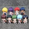 New 9pcs/lot Kuroko no Basket Tetsuya Kuroko Keychain Basketball PVC Action Figure Phone Strap Pendant Toy