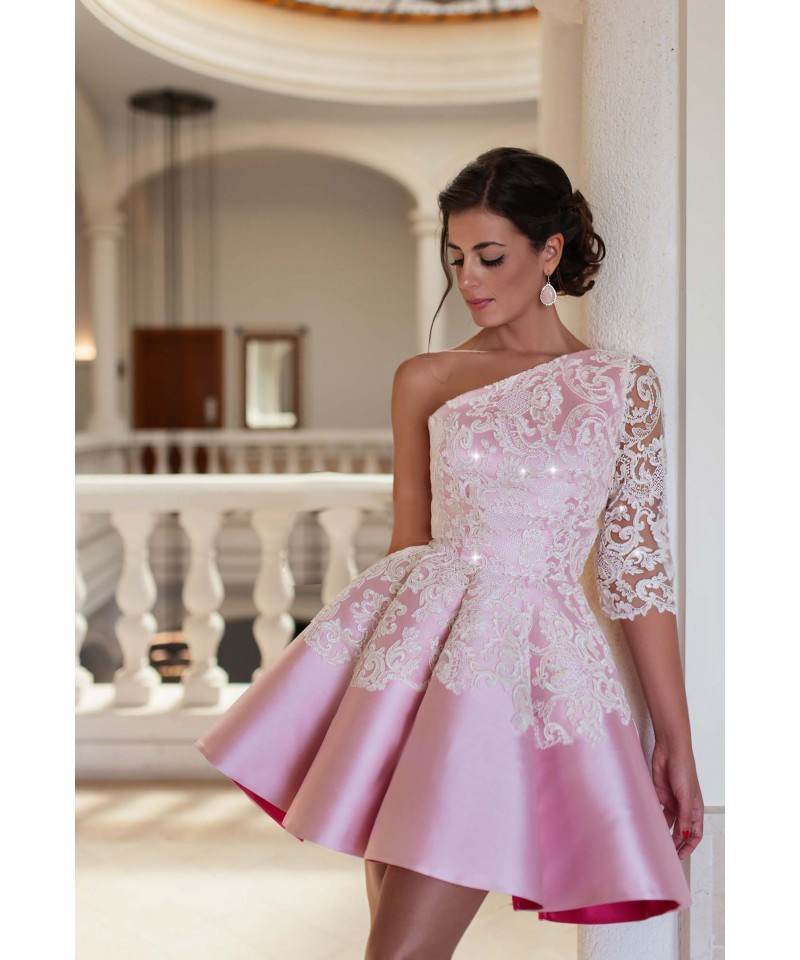Popular Short Pink Cocktail Dresses-Buy Cheap Short Pink Cocktail ...
