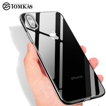 TOMKAS Transparent Fitted Case For iPhone X 8 7 6 6S Plus Case Silicone Soft TPU Clear Cover For iPhone 6 6S 7 8 Plus X Cases