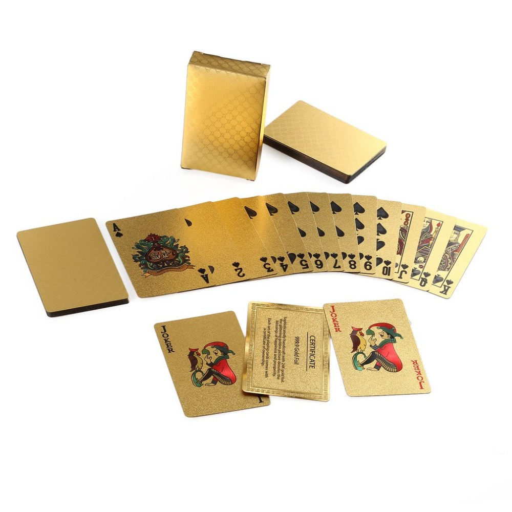 Platinum Foil Poker Playing Cards Waterproof Silver Plated Porker Cards Set For Pokerstars Board Games Silver