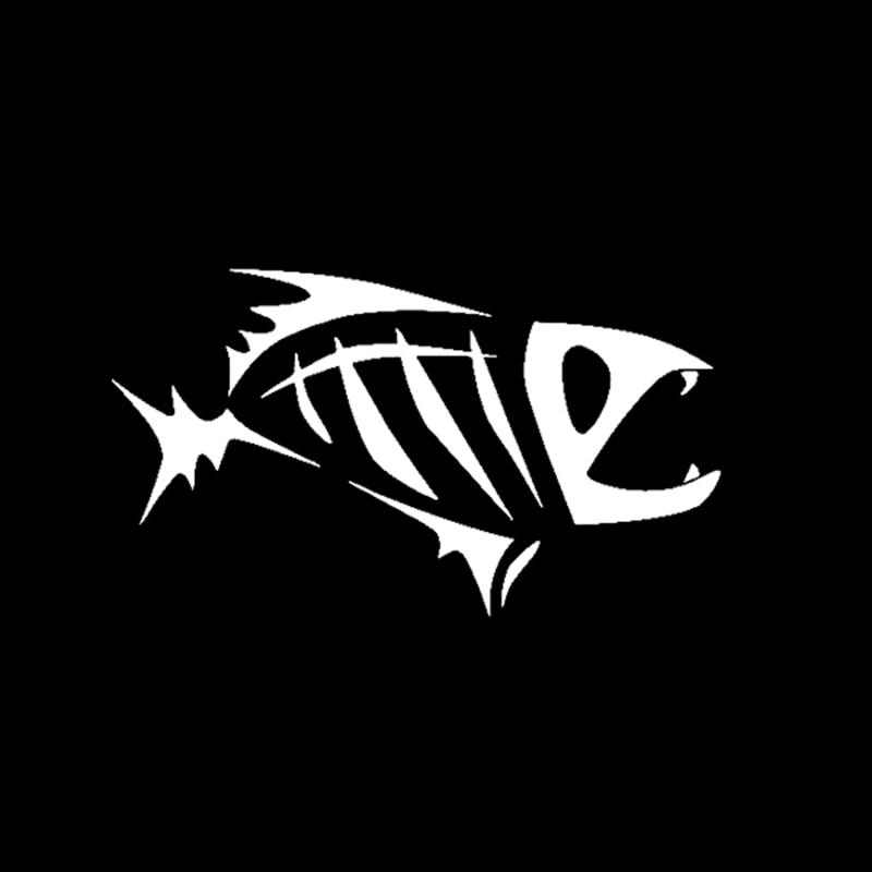 Большой Размер Скелет Племенной Рыбы Винил Пропуск Наклейку Байдарка Рыбалка Автомобиль Грузовик Лодка