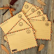 1Pcs Vintage Kraft Paper Postmarks Design Airmail Envelope DIY Gift Envelope Multifunction H0129