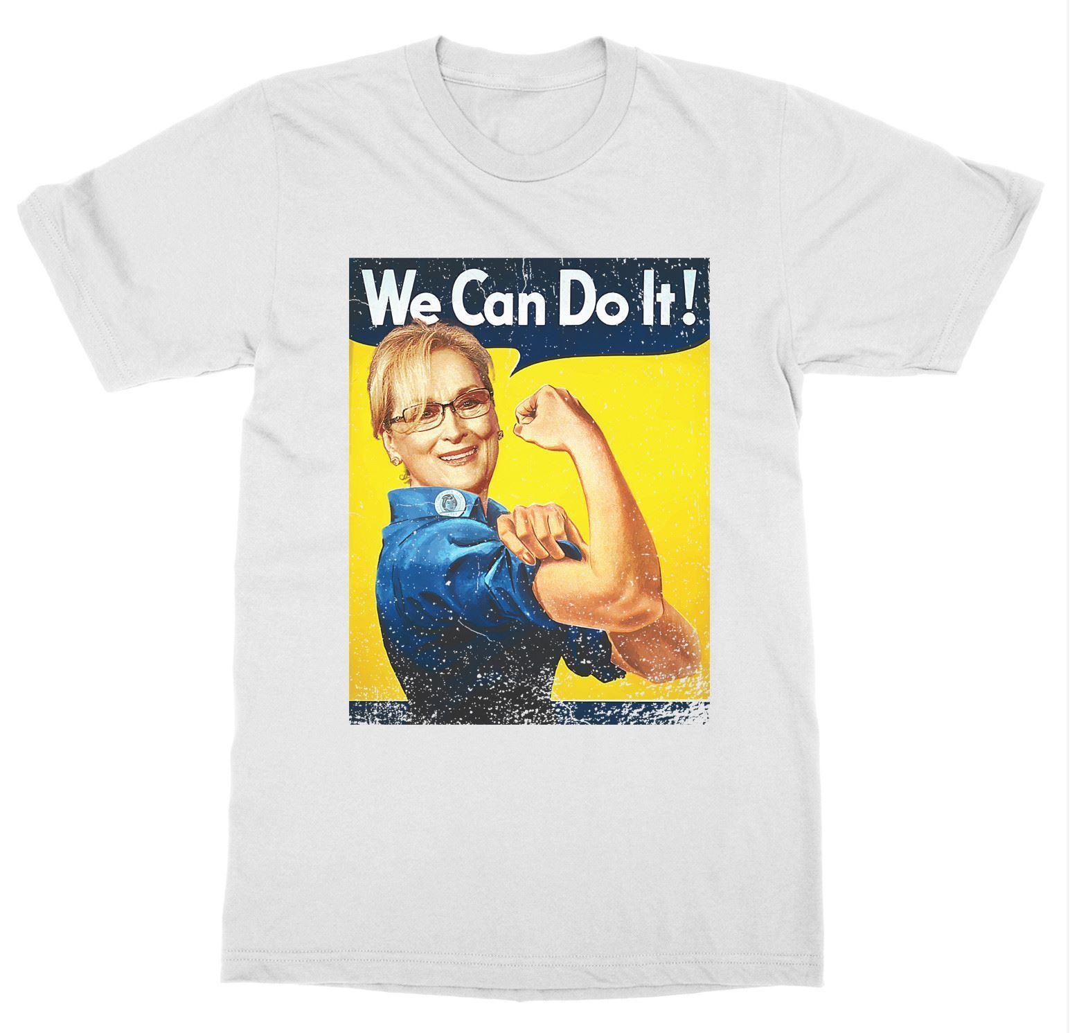 b88910a9c Short Sleeve for Men Clothing Summer Meryl Can Do It T Shirt Streep Feminist  Rosie The Riveter Girl Power Tee Shirt-in T-Shirts from Men's Clothing on  ...
