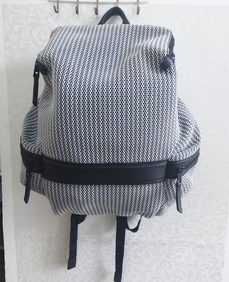 Original Caker Brand Women Backpack Grey Hollow Out Shoulder Bags Lady Zipper Preppy Style Top Fashion