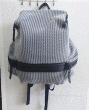 Оригинальный caker Брендовые женские Рюкзак серый выдалбливают сумки на плечо молнии элегантный дизайн Топ Мода вернуться к школьные сумки 2017