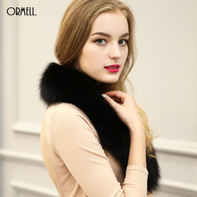 ORMELL Luxury Women's Vogue Faux Scarf Winter Fur Collar Shrugs Scarves Wrap Snood Neck Warmer Shawl