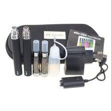 10pcs/lot Double eGo CE4 Starter Kit E Cigarette 650 900 1100mAh eGo t battery CE4 Atomizer E Cig Set Zipper Case Kit 11 Colors