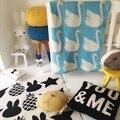 Chirstmas одеяло Милый лебедь Детское Одеяло Вязаный Плед Для Диван-Кровать Cobertores Мантас Покрывало Банные Полотенца Игровой Коврик Подарок