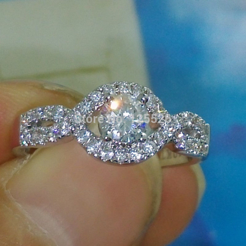 victoria wieck sparkling 10kt gold filled white aaa cubic zirconia diamonique cross wedding ring size5 - Diamonique Wedding Rings