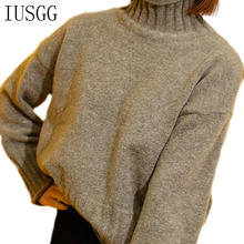 2020 Solid Color Regular Long Sleeve Loose Turtleneck Casual Women knit Sweaters And Pullovers Winter Woman Sweater Knitting Top