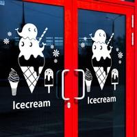 Ice Cream Vinyl Wall Decal Dessert Shop Ice Cream Lettering Words Mural Art Wall Sticker Dessert House Window Glass Decoration
