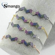 5Pieces The Rainbow Series Women Fashion Wave Shape Bracelet,4 Plating Colors,Can Mix,Can Wholesale