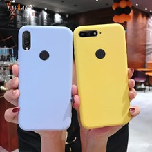 candy color silicone case for vivo nex s a x21 ud i v7 v9 plus x20 x9s x9 y53 y55 y66 y67 y85 y71 y83 cute soft tpu back cover(China)