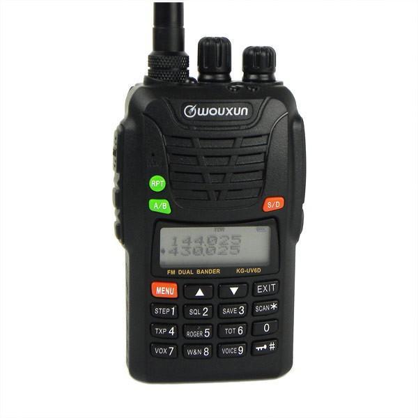 Wouxun KG-UV6D kettős sáv 136-174MHz és 400-470 MHz-es professzionális FM kétirányú rádió Eredeti WouXun KG UV6D 199CH 5W hangszóró