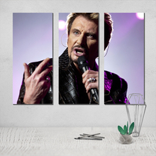 Johnny Hallyday Canvas Poster Painting Photo movie poster Posters Paintings on The Wall Tableau Decoration Salon canvas painting