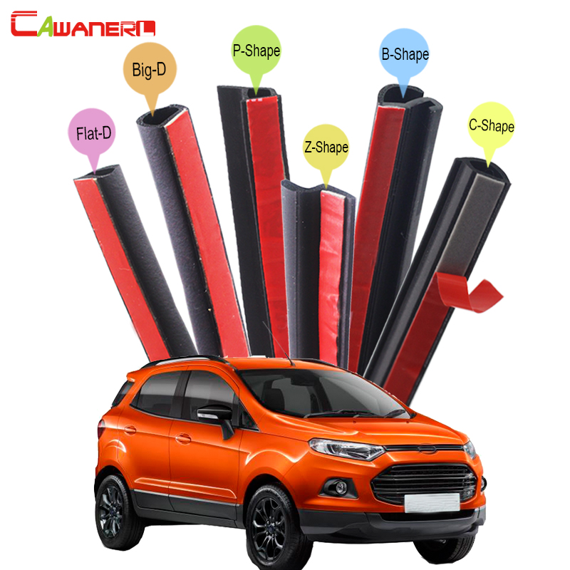 Cawanerl Rubber Car Seal Sealing Strip Kit Weatherstrip Noise Insulation For Ford Freestyle Galaxy Taurus X S-Max EcoSport