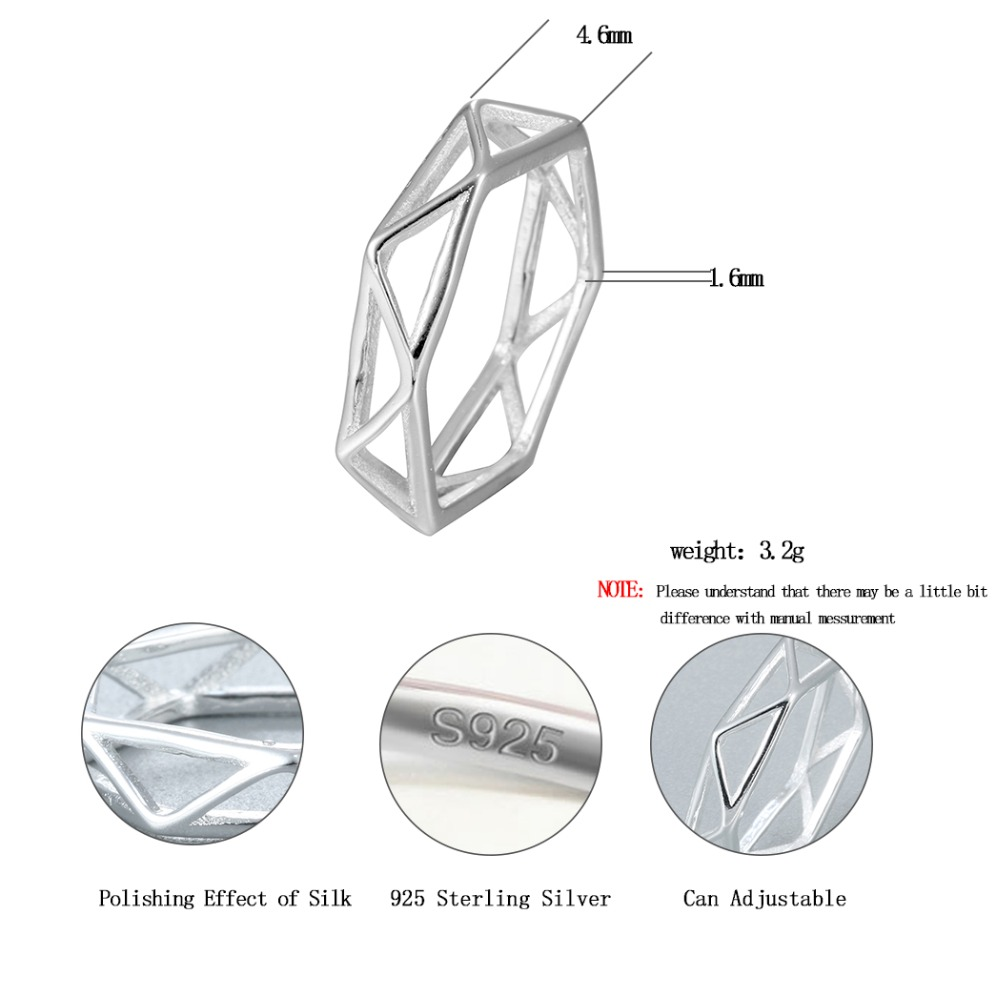 Qiming Silver Jewelry Simple Geometry Vintage Ring Women Fashion Lighting Diagram Wholesale Bijoux Femme Triangle Rings Girls Gift In From