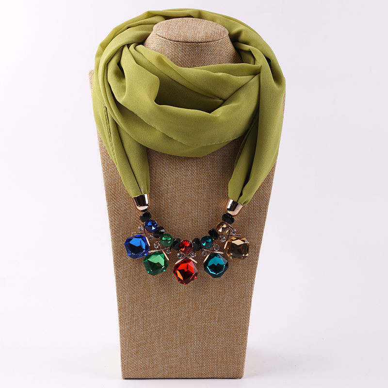 HTB1vh7eLIfpK1RjSZFOq6y6nFXa7 - RUNMEIFA Multi-style Jewelry Statement Necklace Pendant Scarf Women Bohemia Neckerchief  Foulard Femme Accessories Hijab Stores