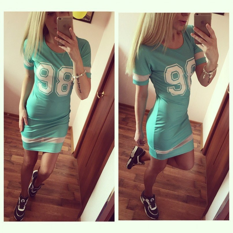 Summer Women Dress No.98 Number Printed Stripes Patchwork Casual Dress Bodycon Mini Jersey Dress