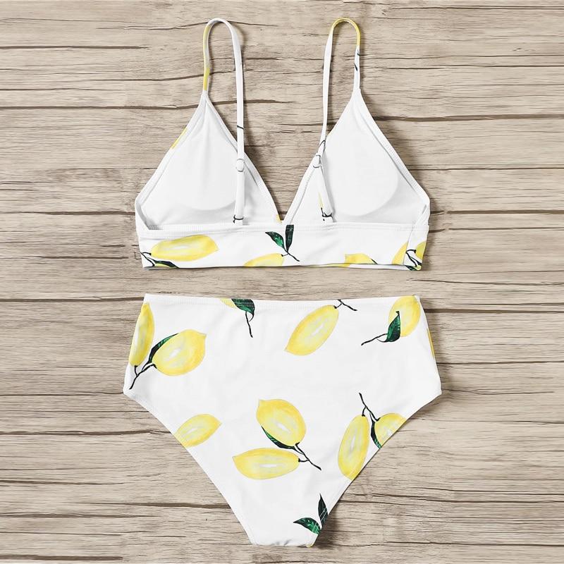 Lemon Print Bikinis 6