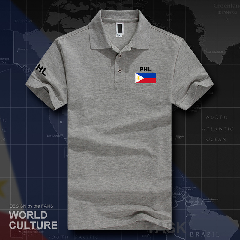 Philippines Pilipinas polo shirts men short sleeve white brands printed for country 2019 cotton nation team flag new fashion PH