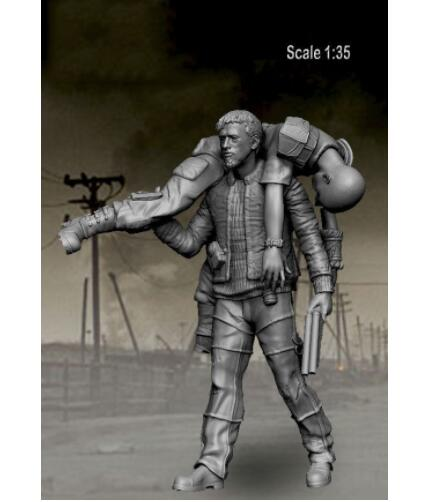 1/35 Survivors Got You Bro! (2 Figures)     Toy Resin Model Miniature Kit Unassembly Unpainted