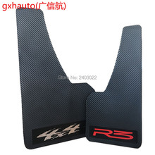Top racing universal truck mudguard auto front rear wheel black plastic mud flaps guard car fender two pcs 43*21