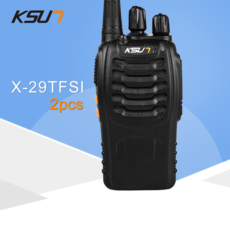 2 PCS KSUN X-29TFSI Walkie Talkie 5W Handheld Pofung UHF 5W 400-470MHz 16CH Two Way Portable CB Radio2 PCS KSUN X-29TFSI Walkie Talkie 5W Handheld Pofung UHF 5W 400-470MHz 16CH Two Way Portable CB Radio