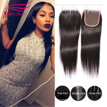 Middle/Free/Three/Side Part Lace Closure Brazilian Closure Human Virgin Hair Closure Straight Weave Fast Shipping By Epackage