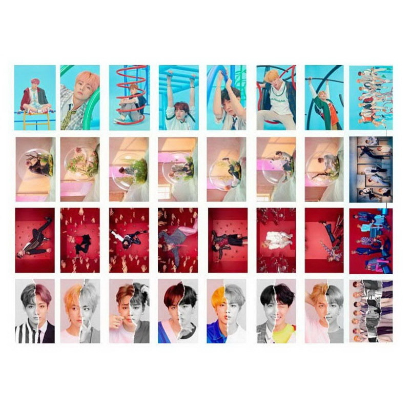 Kpop Bts Love Yourself Album Transparent Photo Card Hip Hop Pvc Cards Self Made Lomo Card Photocard Beads & Jewelry Making Jewelry Findings & Components