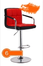 Fashion bar chair H=63-83cm with armrest lift bar stool simple European style barber chair turn Free shipping