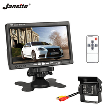 Jansite 7 Inch TFT LCD Car Monitor Display Wired Cameras Reverse Camera Parking System for Rearview Monitors Support DVD VCD