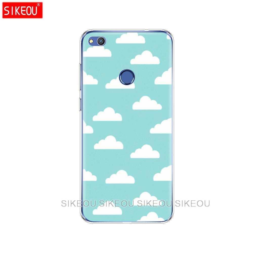 Silikon Kapak telefon kılıfı Için Huawei P20 P7 P8 P9 P10 Lite Artı Pro 2017 p akıllı 2018 bulutlar mavi gökyüzü