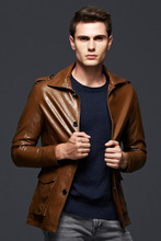 2016New Man Leather Jackets Pu Leather Jaqueta Masculinas Inverno Couro Jacket Men Jaquetas De Couro Men's Leather Jacket M-XXXL