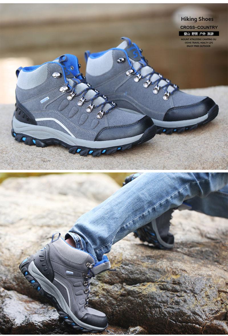 HOMASS Outdoor Waterproof Hiking Shoes Men Women Breathable Trekking ... 4cf96172d6